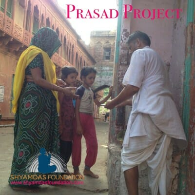The Shyamdas Foundation proudly announces its prasad distribution program, led by Madan Mohan